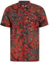 Topman Red Floral Revere Shirt