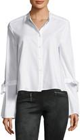 BCBGMAXAZRIA Bell Sleeve Button Shirt