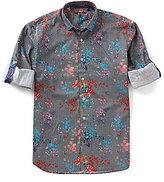Visconti Splatter Print Long-Sleeve Woven Shirt