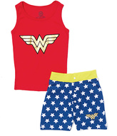 Intimo Wonder Woman Logo Tank Pajama Set - Girls