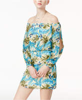 Teeze Me Juniors' Printed Off-The-Shoulder Dress