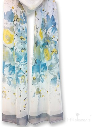 Chn Elements.Accessories LS48-Soft & Translucent Chiffon Silky Feeling Scarf with Oriental Patterns on-48#