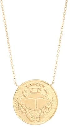 Jennifer Zeuner Jewelry Sylas 14K Gold Vermeil Cancer Medallion Necklace