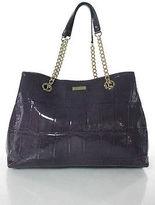 Kate Spade New York Purple Patent Leather Gold Tone Chain Kiss Lock Closure Hobo Handbag