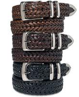 Perry Ellis Men's Leather Braided Belt
