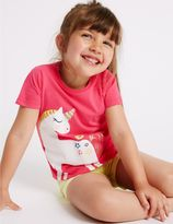 Marks and Spencer Pure Cotton Unicorn Sparkle Top (3 Months - 5 Years)