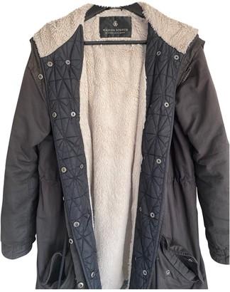 Maison Scotch Black Cotton Coat for Women