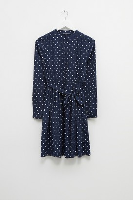 French Connection Polka Dot Crepe Belted Dress