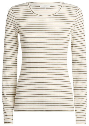 Vince Striped Long-Sleeved T-Shirt