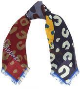 Vivienne Westwood Leopard Print Orb Wool Scarf