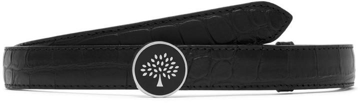 Mulberry Tree Belt Black Matte Croc