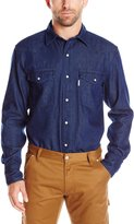 Carhartt Men's IronWood Denim Work Shirt Snap Front Relaxed Fit