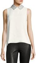 Christian Dior Embellished-Collar Sleeveless Top