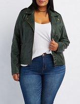 Charlotte Russe Plus Size Moto Jacket