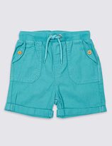 Marks and Spencer Cotton Blend Shorts (3 Months - 5 Years)