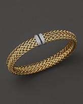 Roberto Coin 18K Yellow Gold Primavera Woven Bracelet with Diamonds