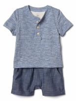 Gap Stripe double-layer shorty one-piece