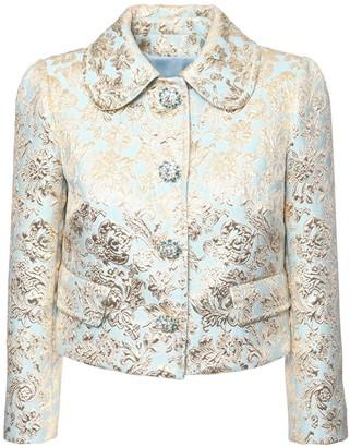 Dolce & Gabbana Jacquard Lame Cropped Jacket