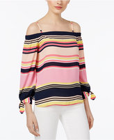 INC International Concepts Off-The-Shoulder Tie-Cuff Top, Only at Macy's