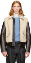 Acne Studios Brown Leather Level Jacket