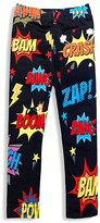 Urban Smalls Black Comic Book Toasties Leggings - Infant Toddler & Girls