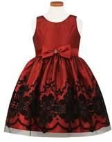 Sorbet Flocked Fit & Flare Dress