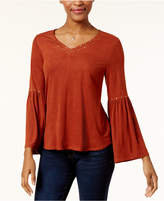Style&Co. Style & Co Studded Faux-Suede Top, Created for Macy's