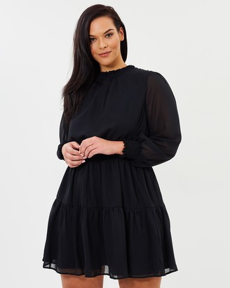 Atmos & Here Marsha High Neck Mini Dress