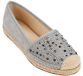 Franco Sarto As Is Suede Slip-On Espadrilles w/ Studs- Twilight