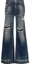 R 13 The Jane Distressed Mid-Rise Bootcut Jeans