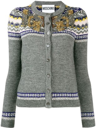 Moschino embellished knit cardigan