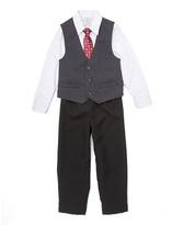 Perry Ellis White & Gray Dobby Vest Set - Toddler & Boys