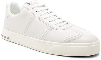 Valentino Leather Sneakers in White   FWRD