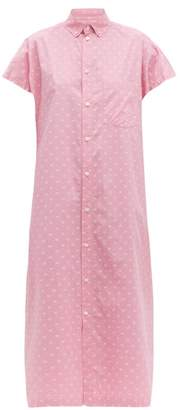 Balenciaga Bb Print Cotton Poplin Shirtdress - Womens - Pink White