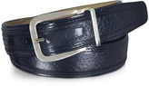Moreschi Lione Navy Blue Peccary and Leather Belt