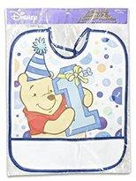 Winnie The Pooh Plastic Bib 1st Birthday Day Boy 13.25h X 11l by