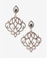 Express ornate pavé teardrop earrings