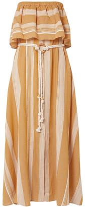 Lemlem Derartu Strapless Striped Cotton-gauze Maxi Dress