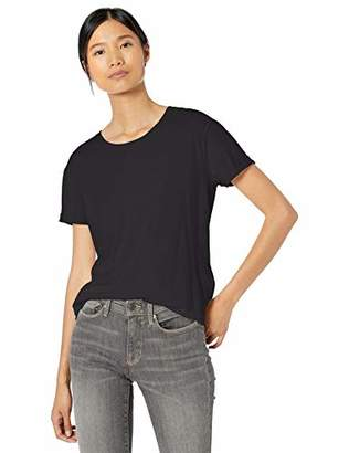 Goodthreads Washed Jersey Cotton Roll-Sleeve Open Crewneck T-ShirtL