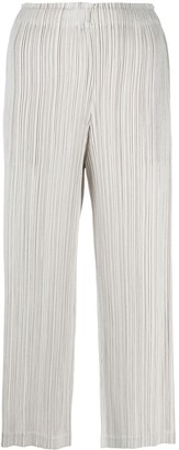 Issey Miyake Cropped Plisse Trousers