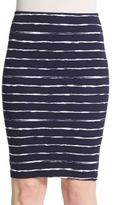 Saks Fifth Avenue RED Striped Pencil Skirt