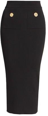 Balmain High-Waist Ribbed Mini Skirt