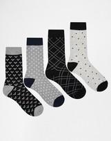 Jack & Jones 4 Pack Socks Minimal