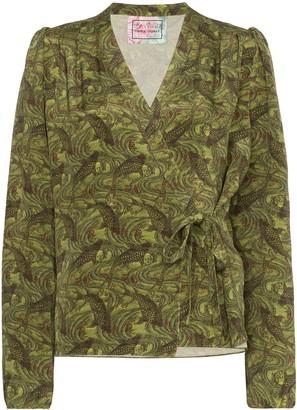 By Walid Haidee Japanese print blouse