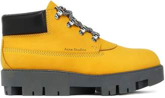 Acne Studios Tinnie Alu Suede Platform Ankle Boots