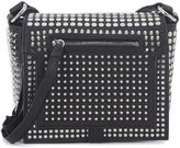 McQ By Alexander Wang Loveless Black Leather Shoulder Bag With Studs