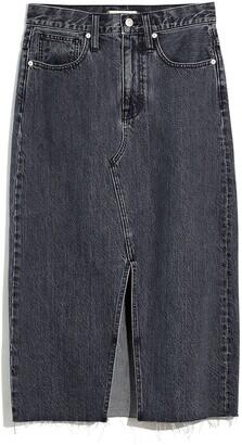 Madewell Rigid Denim A-Line Mini Skirt