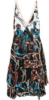 Emilio Pucci Faux pearl-embellished silk mini dress