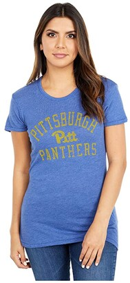 Champion College Pitt Panthers Keepsake Tee (Vintage Royal) Women's T Shirt