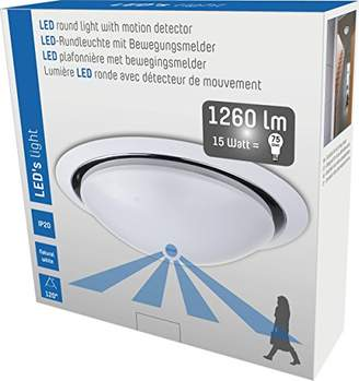 IP20 800503 LED Ceiling 15 W Light with Sensor 1200 lm, 3000 K Warm White